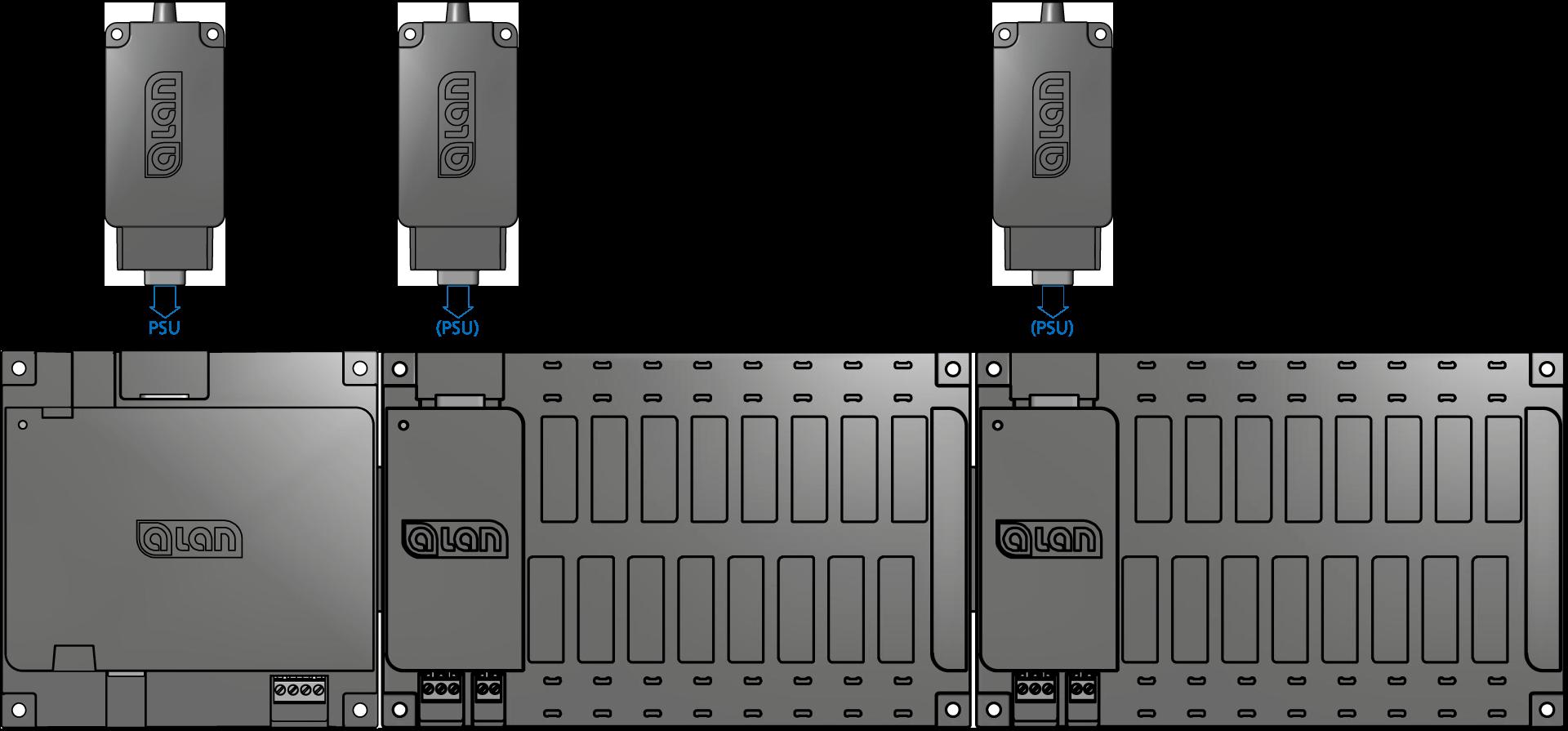 ALAN Montage Einstecken Netzteil PSU in BRAIN oder BASE