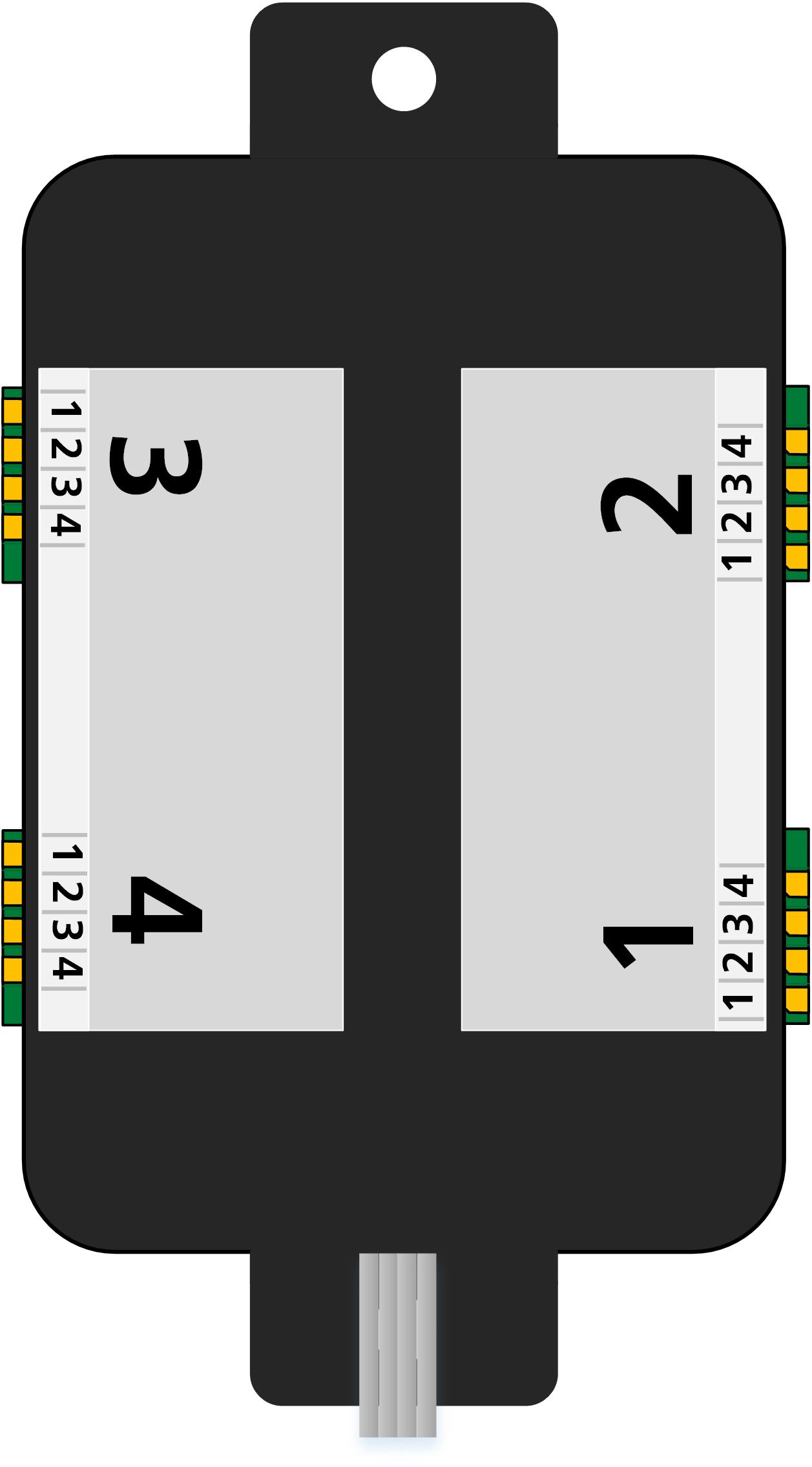 ALAN ECOline Verbinder CON-04L Anschlüsse (schematische Darstellung)