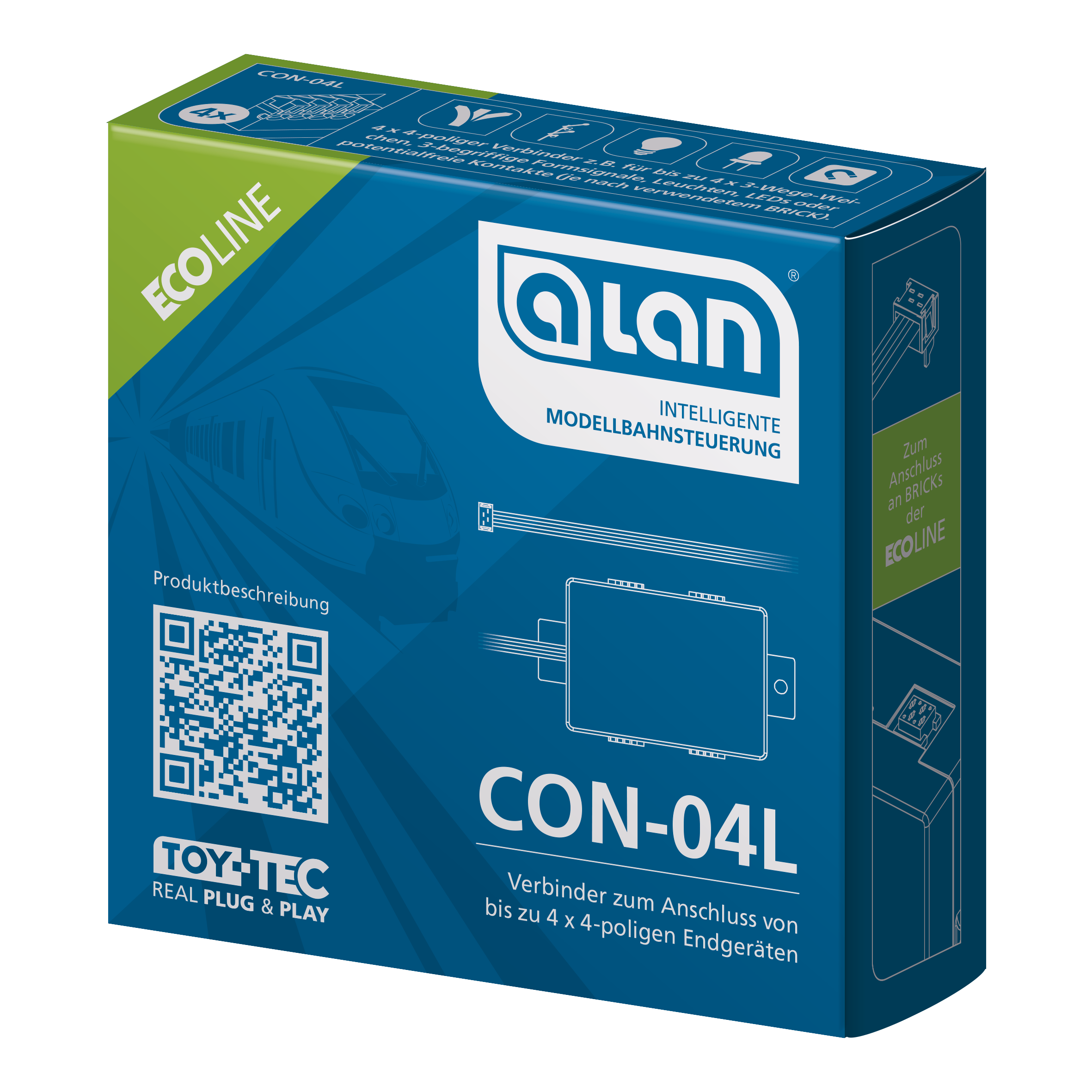 ALAN ECOline Verbinder CON-04L Verpackung Artikel-Nummer 11604