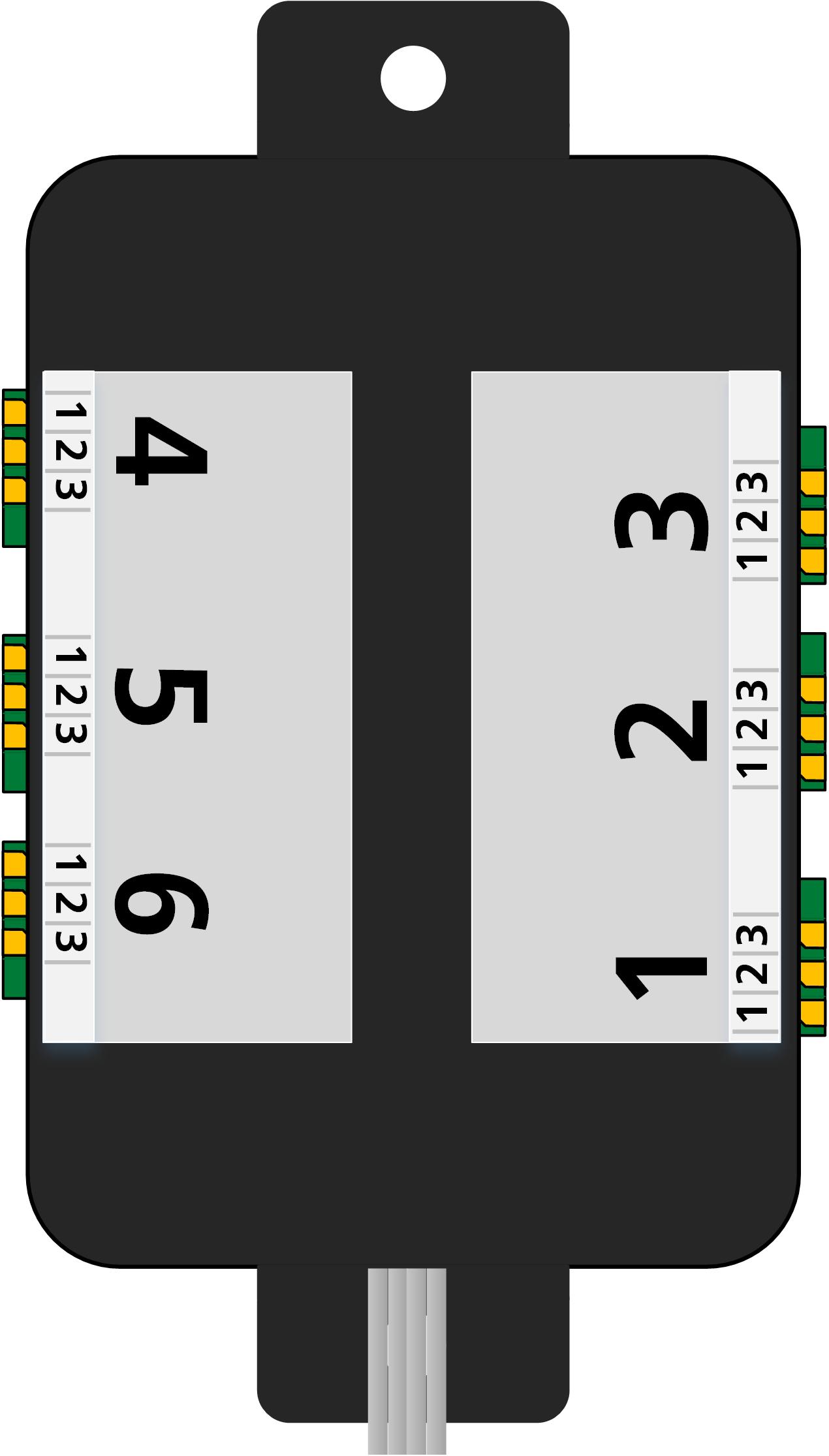 ALAN ECOline Verbinder CON-06L Anschlüsse (schematische Darstellung)