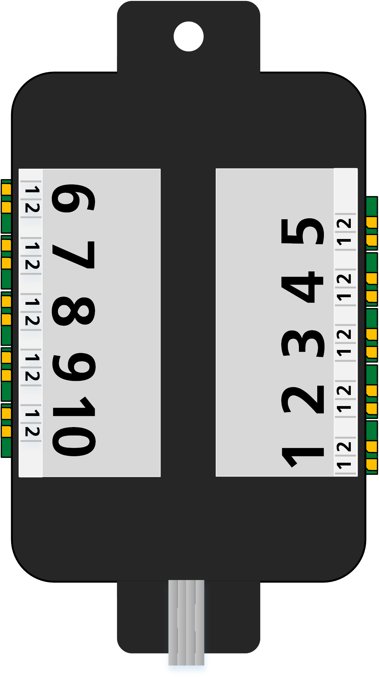 ALAN ECOline Verbinder CON-10L Anschlüsse (schematische Darstellung)