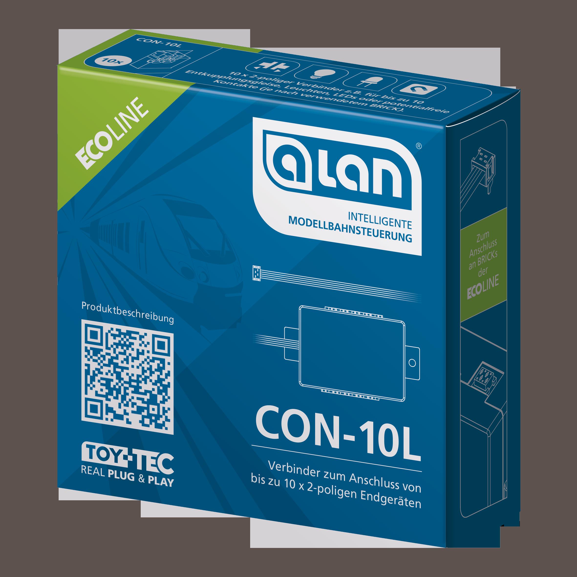 ALAN ECOline Verbinder CON-10L Verpackung Artikel-Nummer 11610