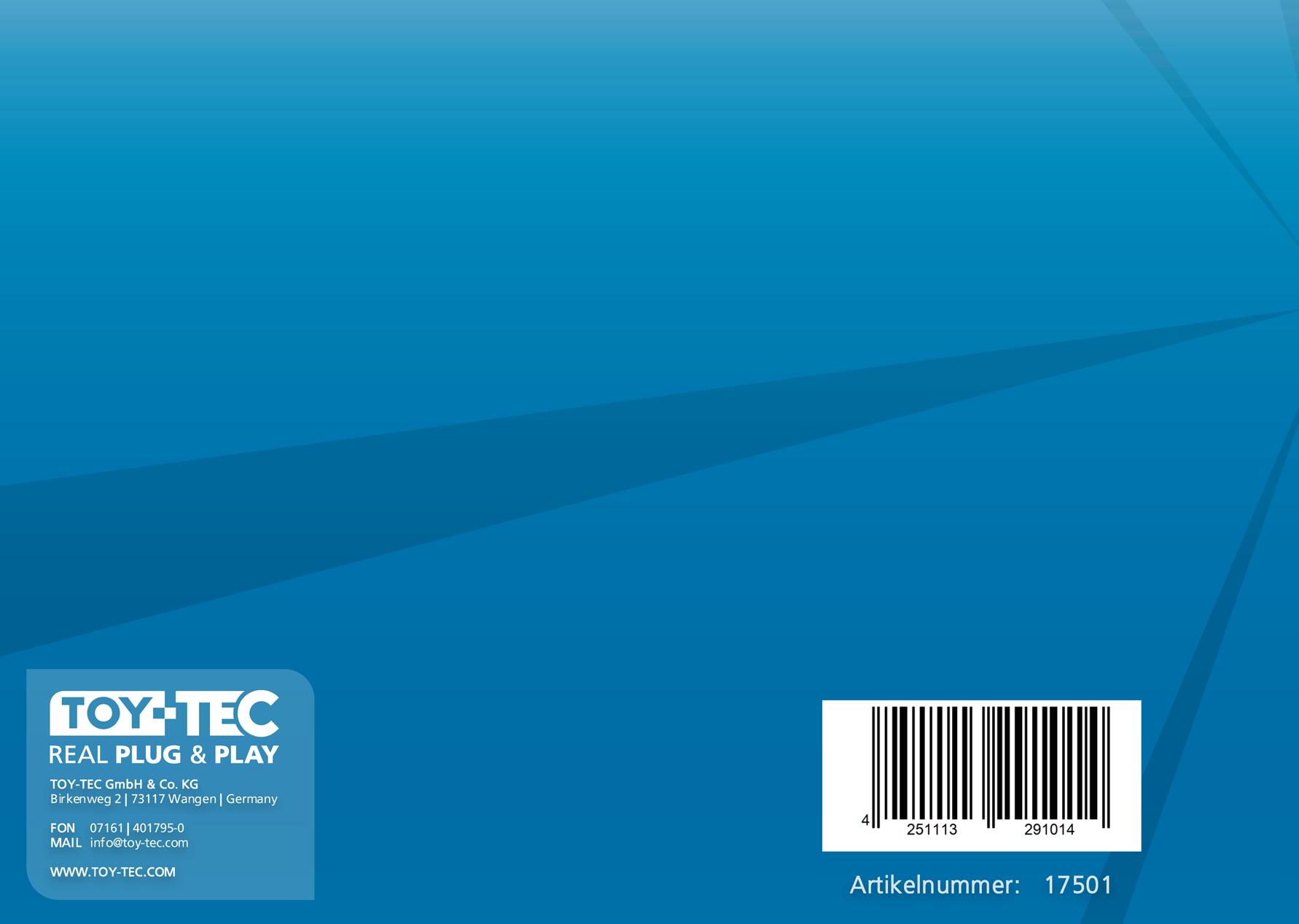 ALAN Benutzer-Handbuch Rückseite Artikel-Nummer 17501