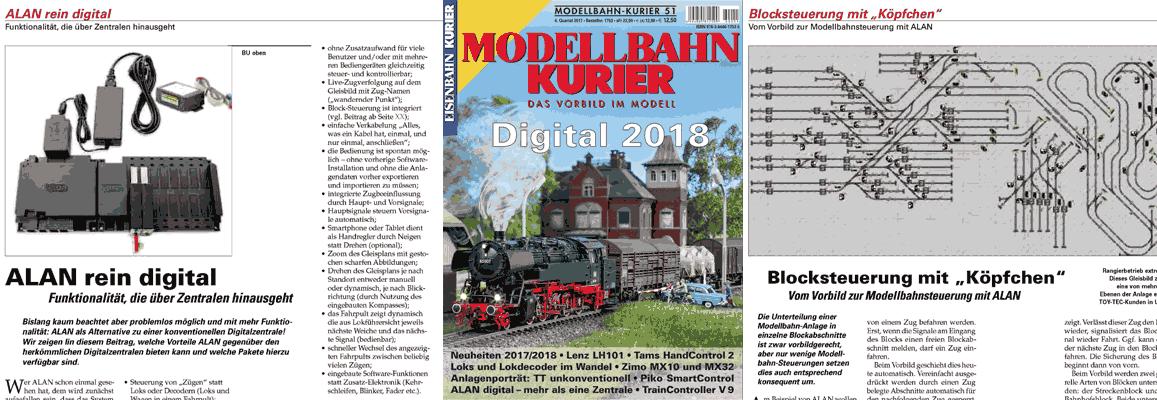 """Presseartikel Eisenbahn-Kurier 51 """"Digital 2018"""""""